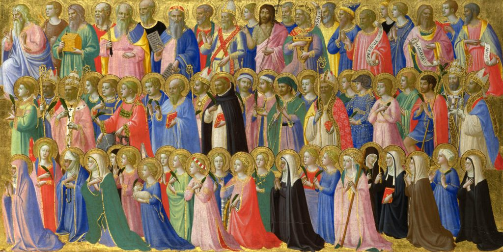 Full title: The Forerunners of Christ with Saints and Martyrs Artist: Fra Angelico Date made: about 1423-4 Source: http://www.nationalgalleryimages.co.uk/ Contact: picture.library@nationalgallery.co.uk Copyright © The National Gallery, London