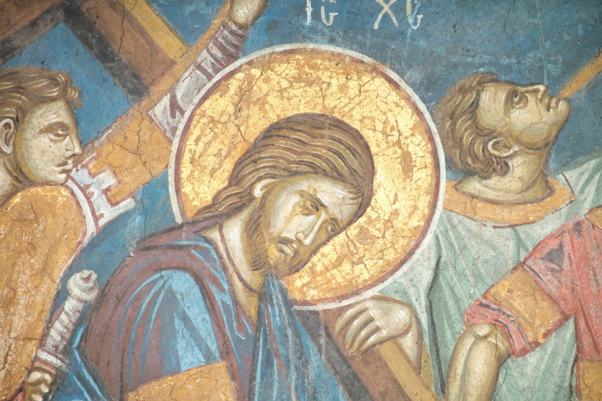 christ-being-led-to-the-crucifixion-monastery-decani-detail