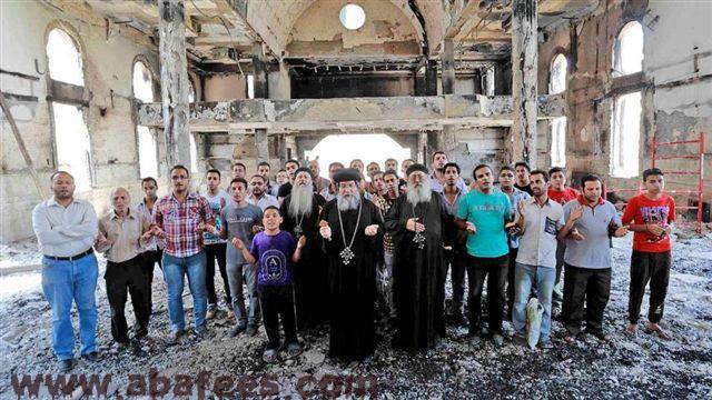 Syria-church-burned